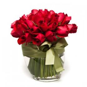 Arranjo com Rosas Vermelhas em Balde de Gelo G