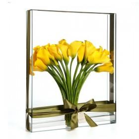 Leque de Callas Amarelo em Retangular de vidro H.Stern - GG