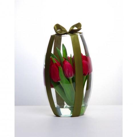 Arranjo de Tulipa Vermelha em Vaso Romeu - P