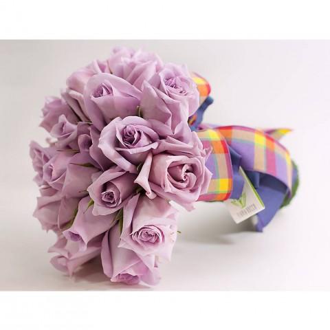 Buquê com Rosas Nacional Lilás (P)