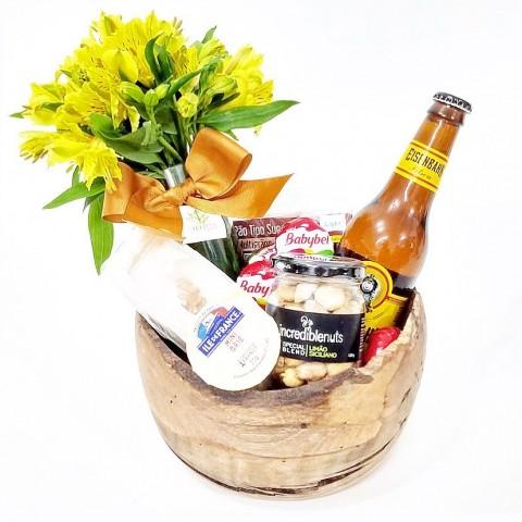 Bowl Happy Hour com Astromélia Amerela e Cerveja - M