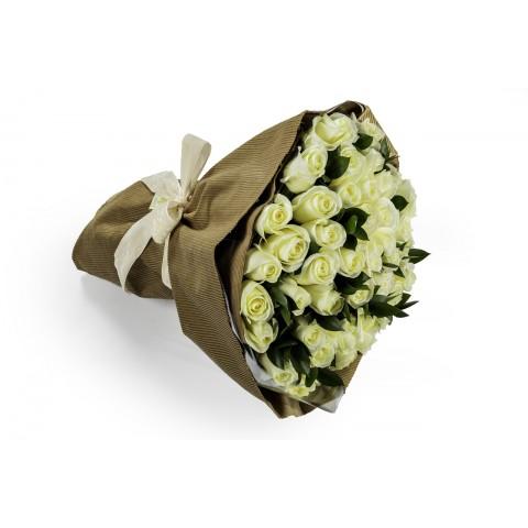 Mega Buquê com Rosas Brancas - GG
